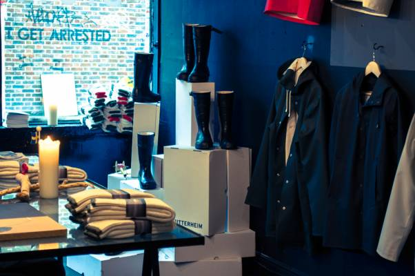 Stop by Stutterheim Raincoats pop-up shop in London
