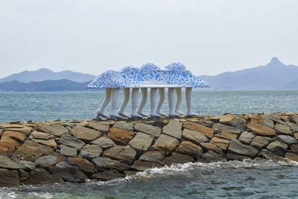 Walking Ark by Keisuke Yamaguchi is at Setouchi Art Festival in Japan's Okayama Prefecture. Photo by Kimito Takahashi