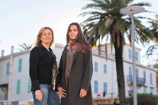 Carole Biancalana (left) and Armelle Janody of Fleurs d'Exceptions du Pays de Grasse
