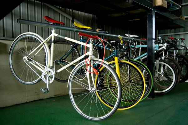Colourful Funriki bicycles
