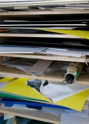Shelves of modelling materials