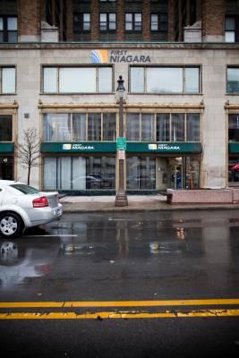 A branch of the local first Niagara Bank