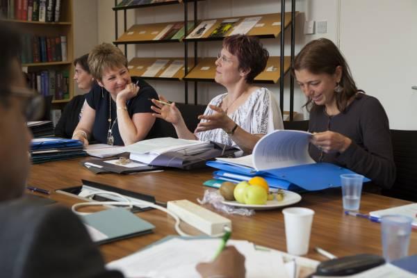 The weekly peer-review meeting