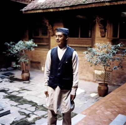 Waiter in KantipurTemple House Hotel