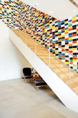 Colourful stairwell at the Soho