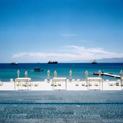 Private beach at Hotel Kempinski