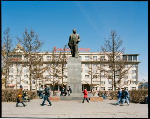 Statue of Lenin, legacy of Mongolia's Soviet era