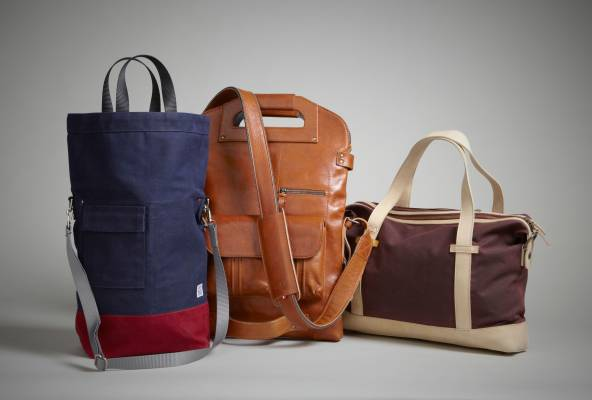 Top three bags: (left to right) Chester Wallace, Hard Graft, Mugon