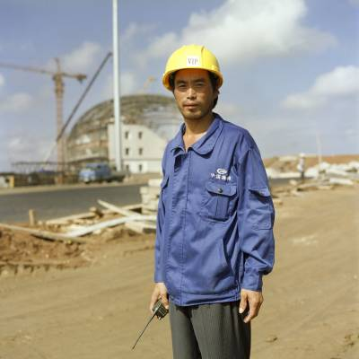 Chinese worker at Magampura Port