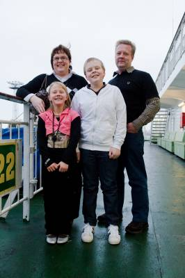 The Pärhä family on deck