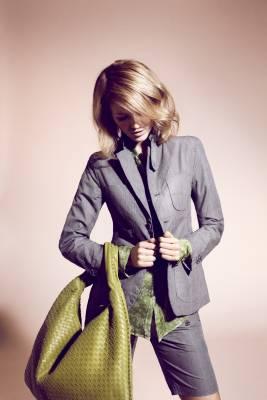 Jacket and shorts from FWK by Engineered Garments, shirt by Glanshirt, bag by Bottega Veneta
