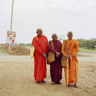 Female monks at Hambantota