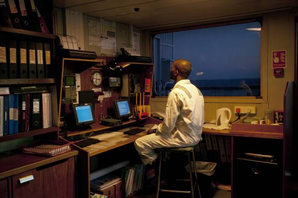 Control room on 'RMS St Helena'