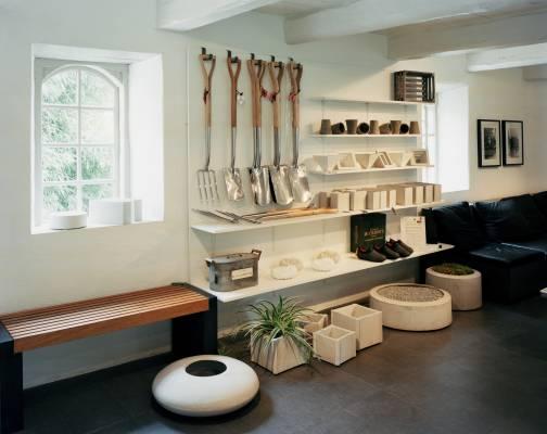 Stina Lindholm's designs and gardening tools at Skulpturfabriken