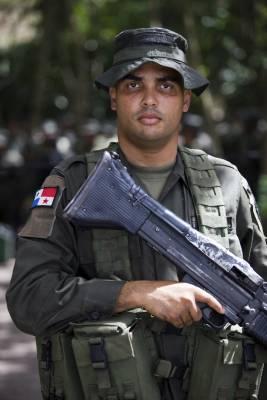 One of 20 Panamanian policemen