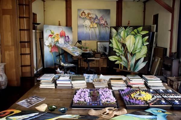 The studio of local artist Jenaro Mejia