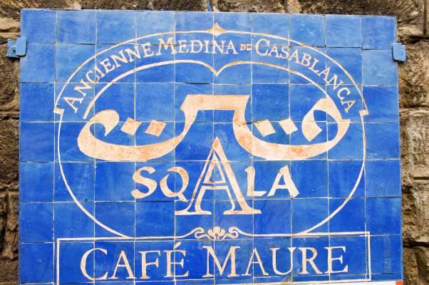 La Sqala café sign