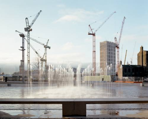 Granary Square looking towards King's Cross Station
