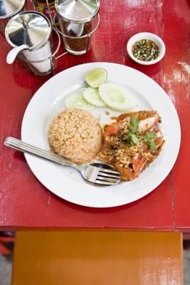 A meal at Baan Mae Yui restaurant