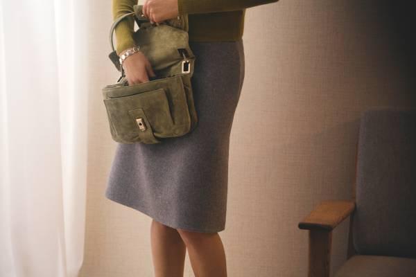 Cardigan by J.Crew, Skirt by Hermes, Bag by RogerVivier, Bracelet by Georg Jensen