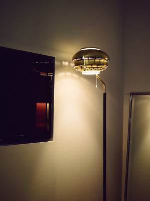 A808 brass floor lamp by Alvar Aalto for Artek (1955-56)