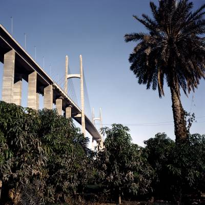 Bridge over Suez Canal previously known as Mubarak Peace Bridge
