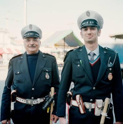 Municipal policemen at Porta Palazzo market