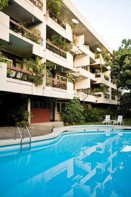 President House apartments, with pool