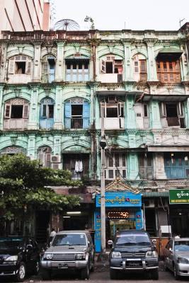 Colonial building in Little India neighbourhood