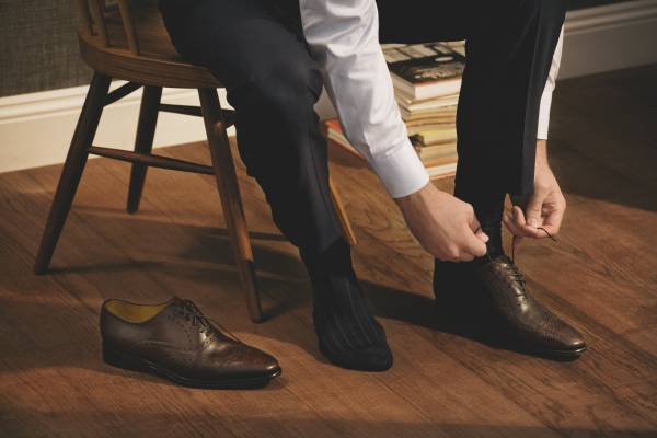 Shirt and shoes by Canali, Trousers by Richard James, Socks by Tabio