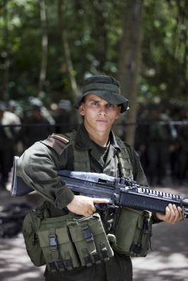 One of 30 Colombian policemen