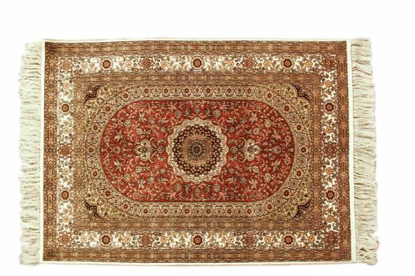 **3** Persian silk rug