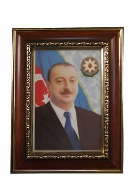 **4** Portrait of President Ilham Aliyev