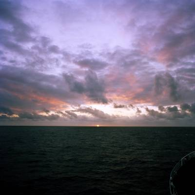 Sunset in the South Atlantic