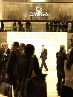 Omega stand at BaselWorld
