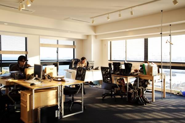 Viglar's scenic corner office at the Soho