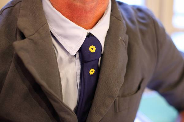 Jupe's hand- embroidered ties