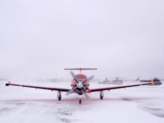 A Pilatus PC-12
