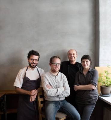 Left to right: Christian Puglisi - Chef at Restaurant Relae, Søren Ejlerson - Co-founder, Aarstiderne, Tor Nørretranders - Science writer