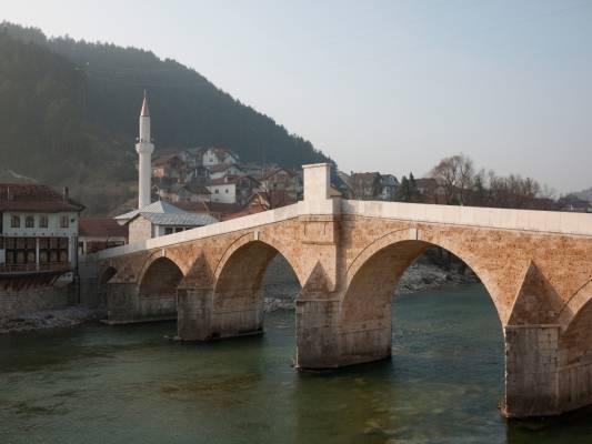 The river town of Konjic in the Bosnian canton of Herzegovina-Neretva