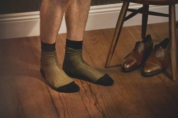 Socks by Tabio, Shoes by John Lobb