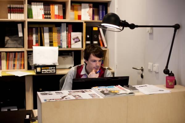 Front desk at the bookshop