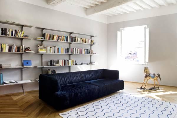 Architect Paola Sausa's living room