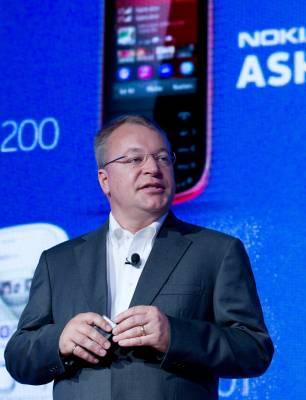 Nokia's chief executive Stephen Elop
