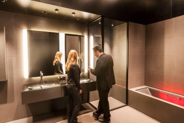 Bathroom interior by Roca x Armani