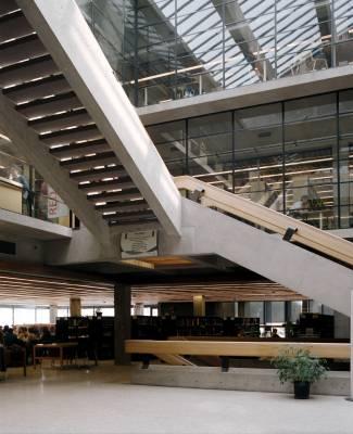 Inside Trent's Bata Library