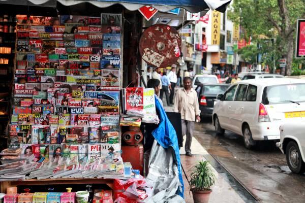 New Delhi newsstand