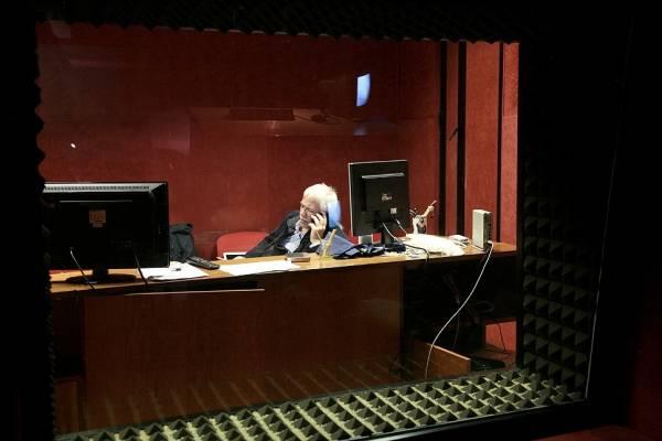 Luigi La Monica taking a break in the studio