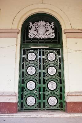 Door to former lower court building
