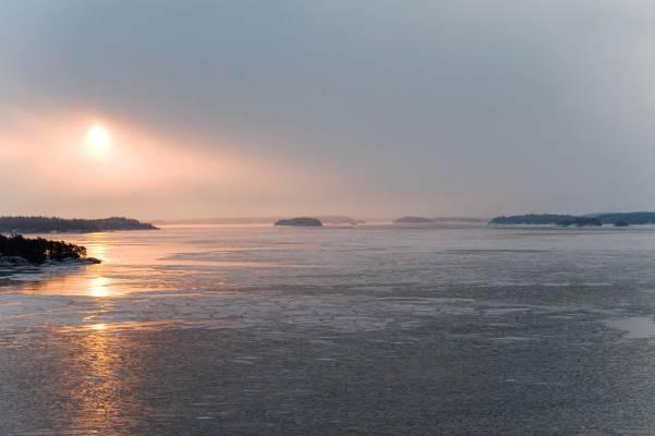 Sunrise in the Stockholm archipelago